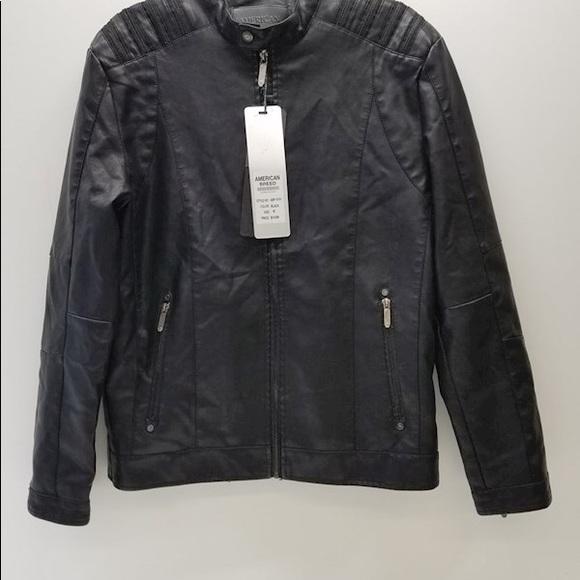 NWT American Breed Pleather Jacket Size Medium